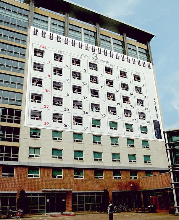 campaña de axe en un edificio