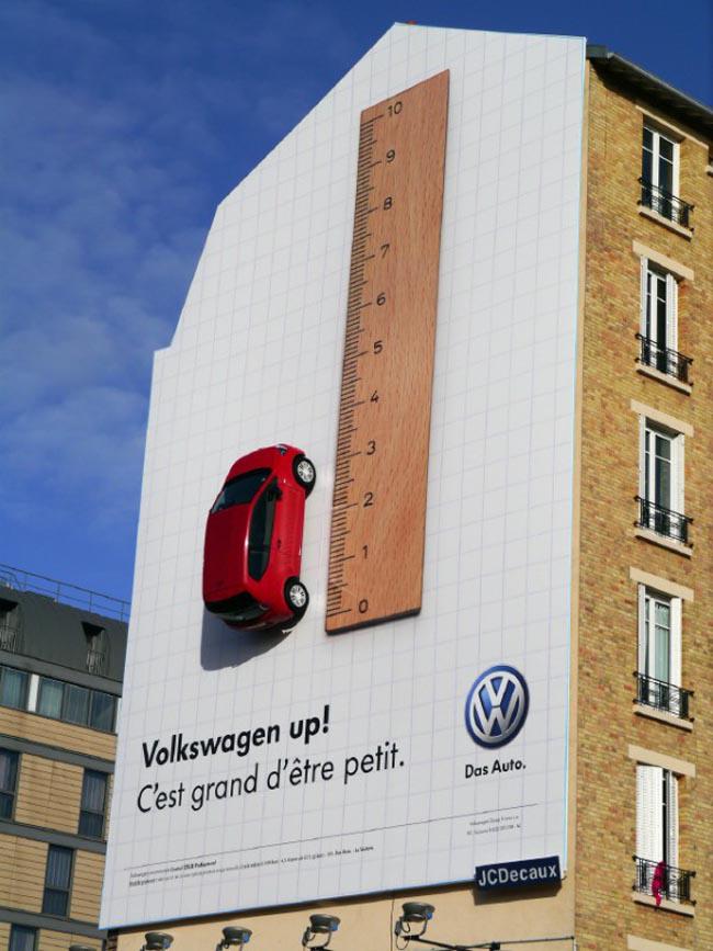 Campaña de publicidad exterior de Volkswagen