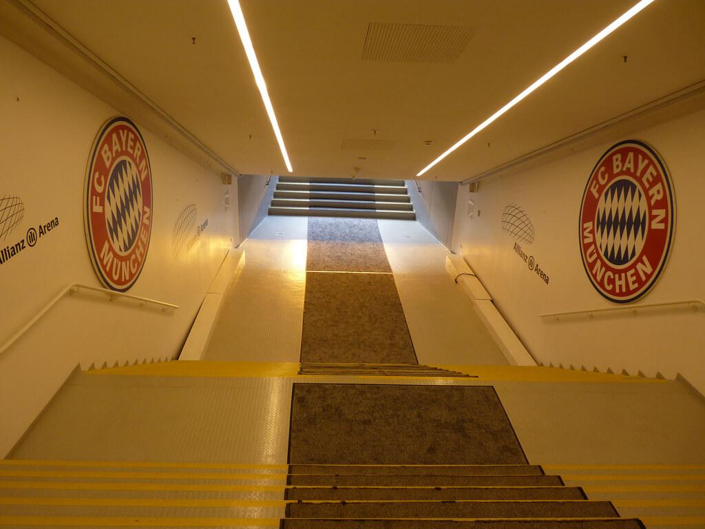 Tunel de vestuarios Allianz Arena