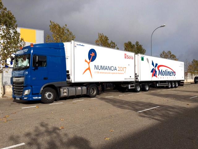 Rotulacion de grandes camiones en Soria, Zaragoza y La Rioja