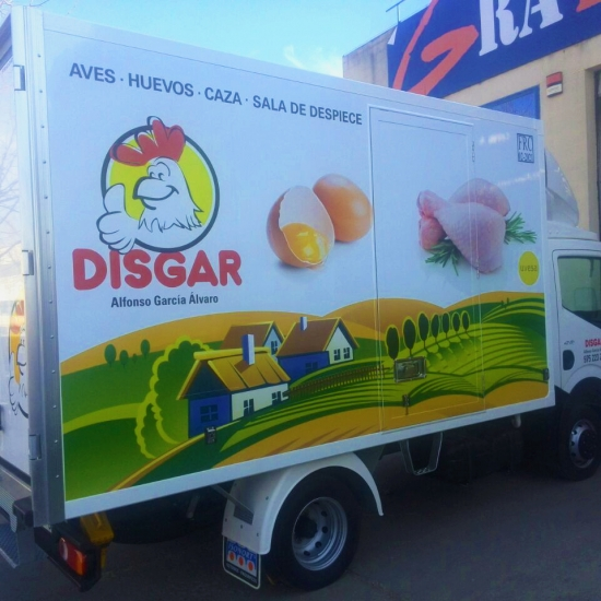 Rotulación de camiones para DISGAR