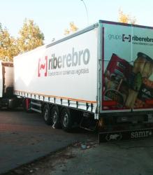 Rotulación de camión para Grupo Riberebro