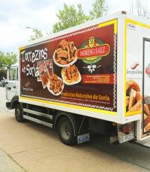 Rotulación de camión para Embutidos Moreno Saez
