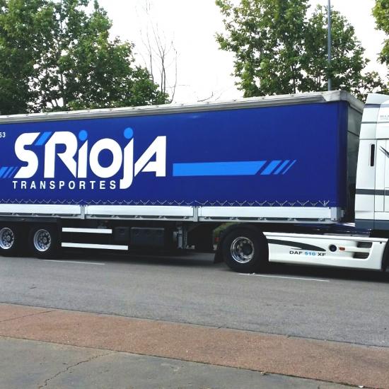 Rotulación de camión para Transportes S-Rioja