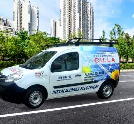 Rotulación de vehículo para Electricidad Cilla