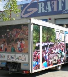 Rotulación de vehículo del Bar Chicote