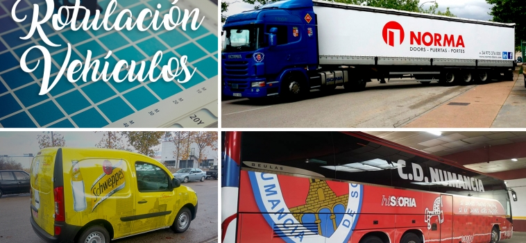 Rotulación de Vehículos, camiones, autobuses y flotas en Soria
