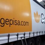 Camión rotulado por Graffiti Soria