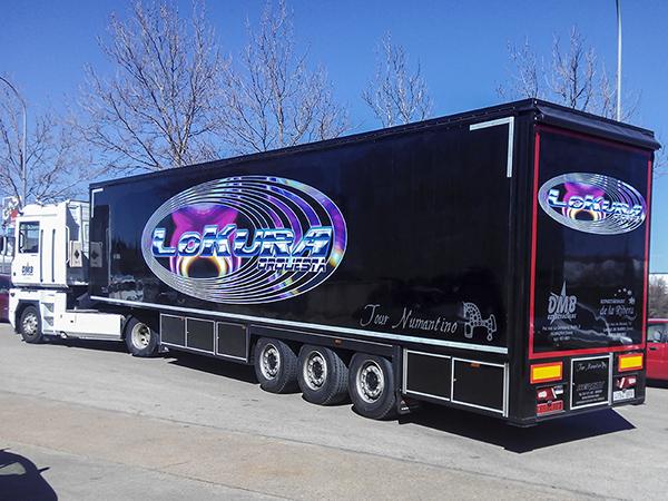 Rotulación de camión de Orquesta Lokura
