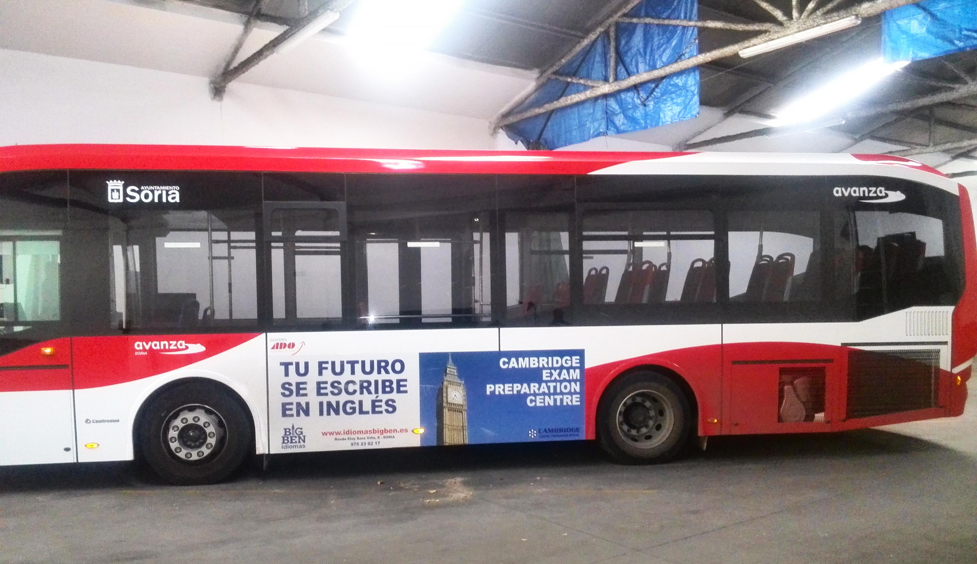 Rotulación del Servicio de Autobuses Urbanos para el ayuntamiento de Soria